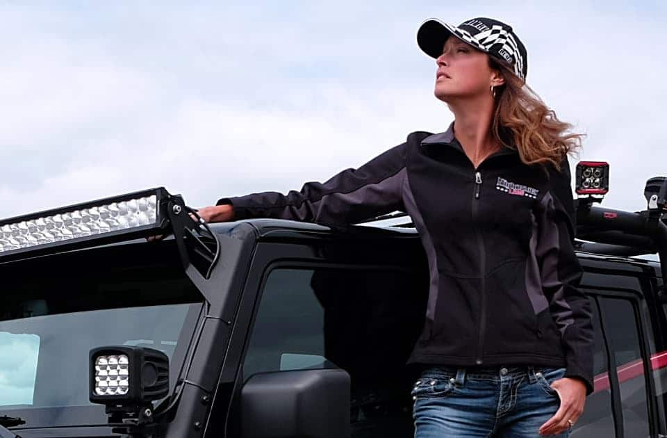 NightRider Apparel including jackets and hats