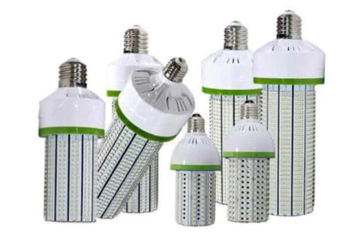 LED Corn Lights, with large mogul screw base for industrial applications