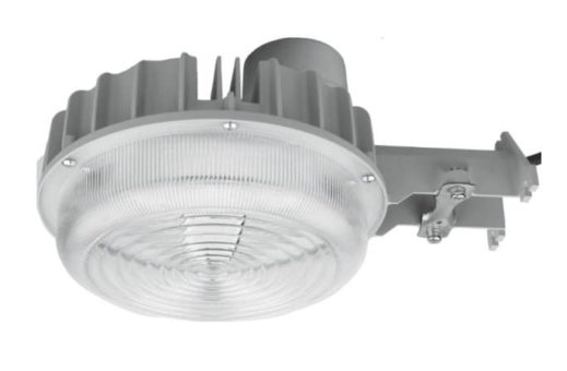 Dusk to Dawn LED light with photocell for instant on when sun goes down and off when sun comes up.