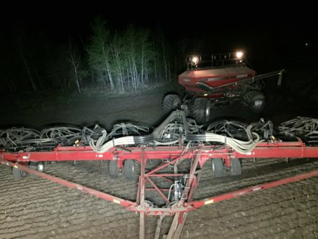 Tractor Seeding at Night with Rider Series Light Bars