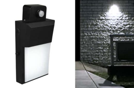 Decorative Wallpack LED light great for next to building entry ways, and wall perimeters where more subtle and decorative light is required.