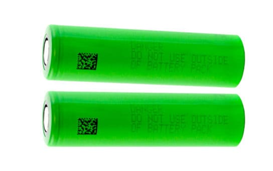 Pair of 18650 Li-Ion Rechargeable Batteries