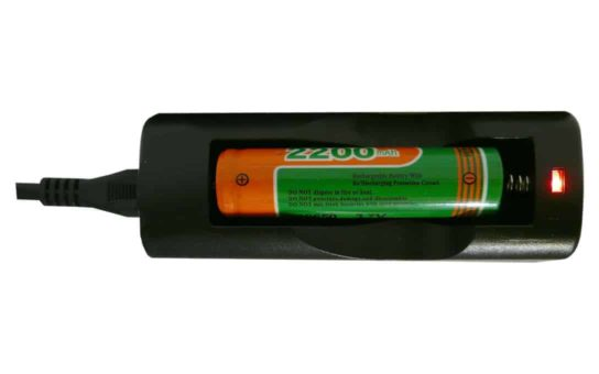 Single Charger for 18650 2200Mah Li-Ion Battery