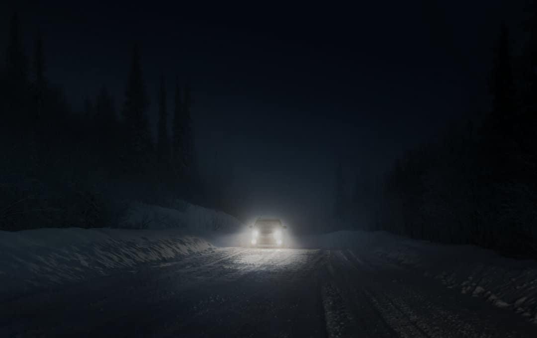 Car with stock fog lights
