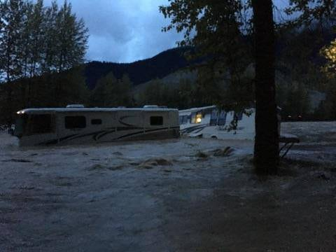 Terrace & Kitimat swift water flood rescue campers Kitimat River