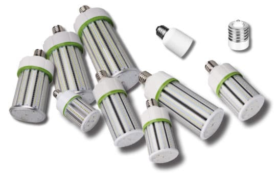 Group of Corn Lights with Adapters